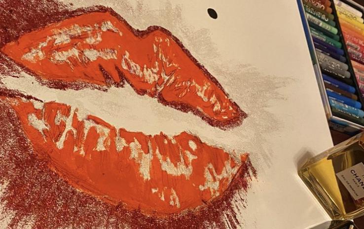 Lipstick crayon art, Taeyong's Monroe
