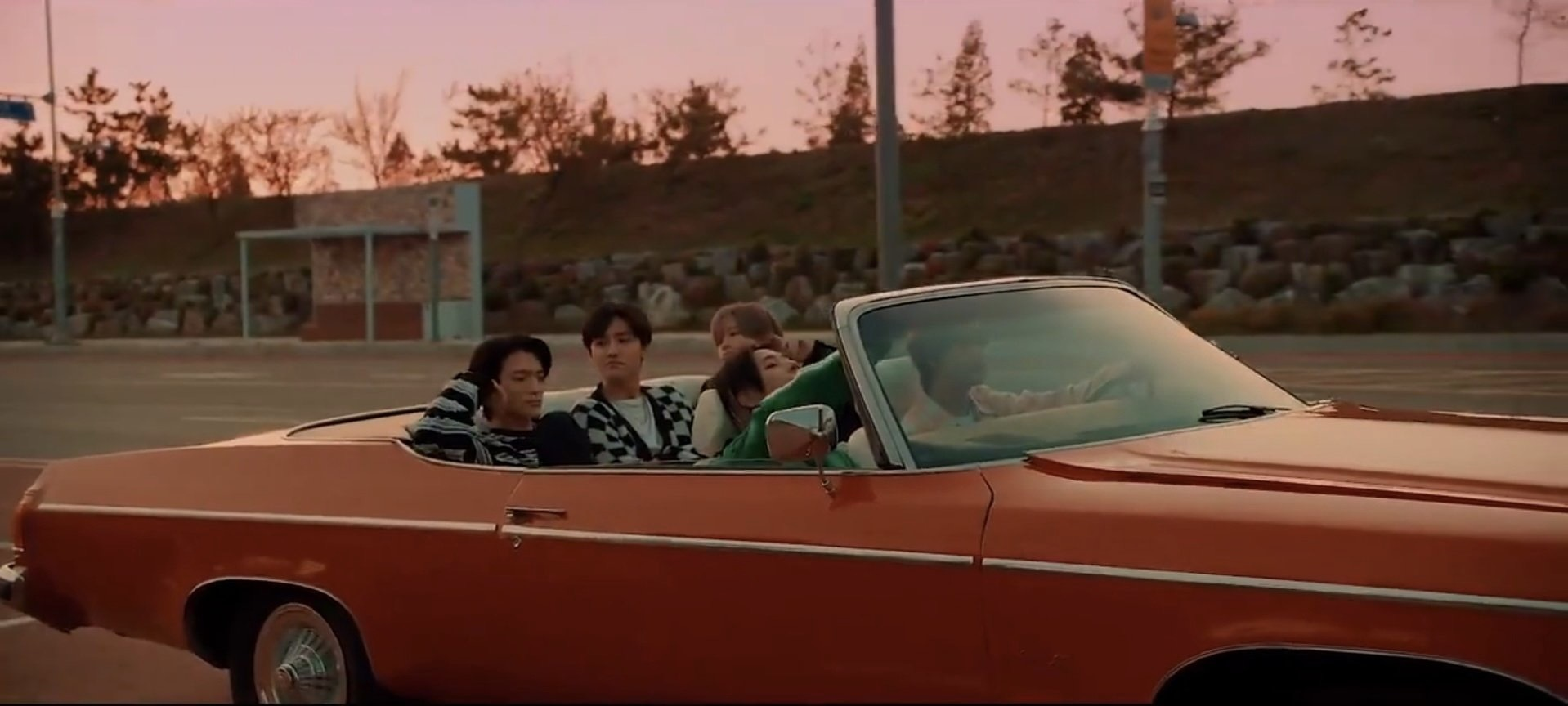 NCT Dream Dive Into You in red car