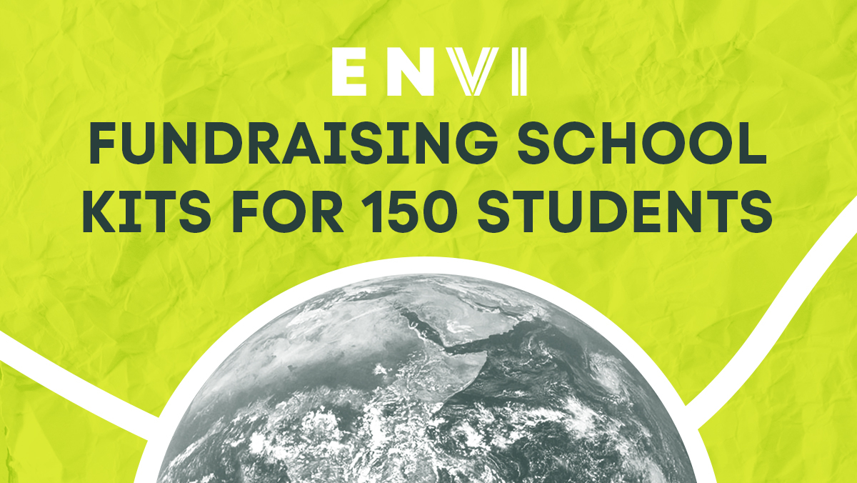 Envi fundraising school kits for 150 students with Rotaract Club